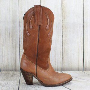 VTG! FRYE Rodeo Western Cowgirl Heeled Boots Sz 7